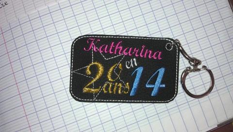 Porte cle katharina 20ans 2014