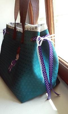 Sac a main bleu petite robe violette 6