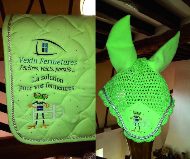 Tapis selle bonne vert vexin fermetures